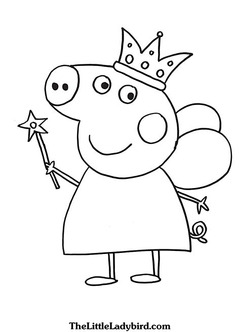 peppa pig coloring pages thelittleladybirdcom