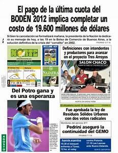 Peri U00f3dico Diario Norte  Argentina   Peri U00f3dicos De Argentina  Edici U00f3n De Jueves  2 De Agosto De