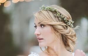 Couronne Fleur Cheveux Mariage : coiffure mariage couronne millaulespiedssurterre ~ Melissatoandfro.com Idées de Décoration