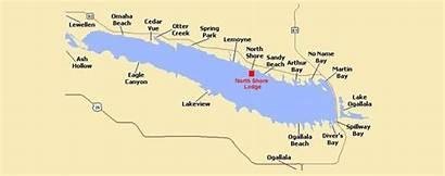Mcconaughy Lake Nebraska Ogallala North Map Beach