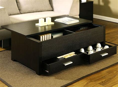 Black Square Coffee Table With Storage Interior Home