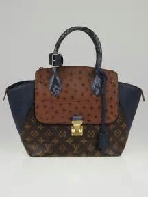 louis vuitton limited edition blue exotique monogram majestueux pm tote bag yoogis closet