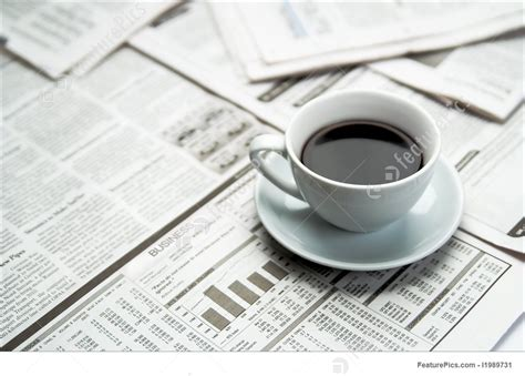 Select from premium coffee newspaper of the highest quality. Office And Close-Up: Coffee Newspaper - Stock Photo I1989731 at FeaturePics