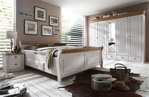 Massivholz Doppelbett Mit Schubladen 180x200 Kiefer Massiv Weiß Gelaugt
