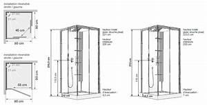 cabine de douche horizon c80 receveur faible hauteur porte With hauteur porte de douche