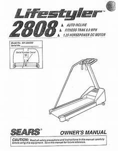 Sears Treadmill 831 298 U002650 User Guide