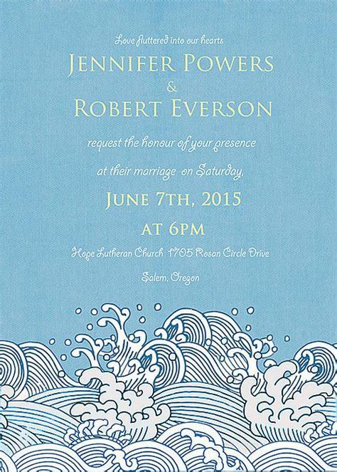 destination beach summer pocket wedding invitation ewpi