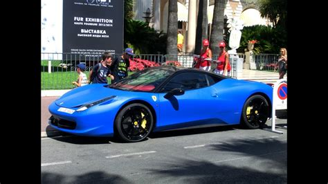 arab matte blue ferrari  italia loud sounds youtube