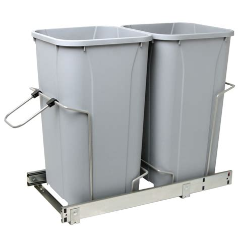 Cabinet Trash Can Home Depot by Real Solutions Soft Slide Out Waste Bin 27