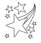 Coloring Star Pages Sky Falling Shooting Template Printable Space Toddler Templates sketch template
