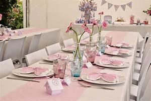 Deco Table Rose Et Gris : deco de table bapteme art irene ~ Melissatoandfro.com Idées de Décoration