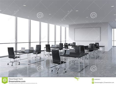 reprise ordinateur de bureau lieux de travail d entreprise 233 quip 233 s par les ordinateurs portables modernes dans un bureau
