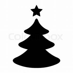 Tannenbaum Schwarz Weiß : einfacher schwarz wei er weihnachtsbaum vektorgrafik colourbox ~ Orissabook.com Haus und Dekorationen