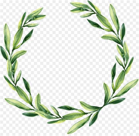 wreath wedding watercolor painting calligraphy gift green leaf garland png 3233
