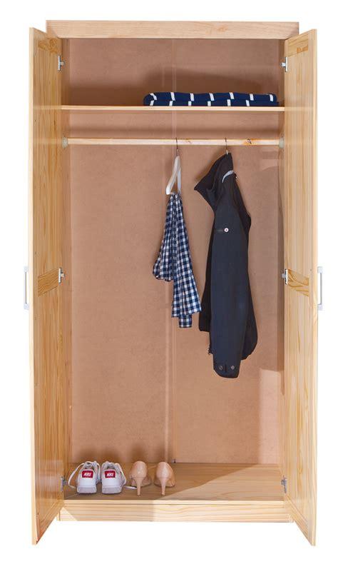 armoire chambre 2 portes armoire penderie 2 portes en pin massif vernis naturel