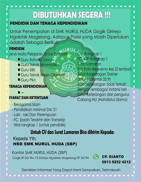 Formasi khusus meliputi cumlaude, diaspora, dan disabilitas pada instansi pusat dan daerah, serta. Lowongan Kerja di Magelang, Jawa Tengah Januari 2021