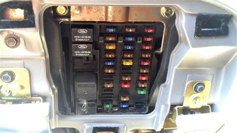 ford     fuse box location youtube