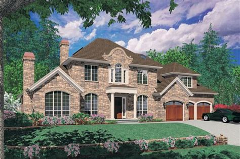 European Style House Plan 4 Beds 3 5 Baths 4064 Sq/Ft