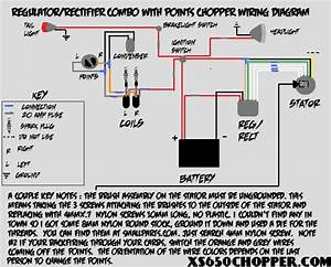 Regulator  Rectifier Combo With Points Wiring Diagram