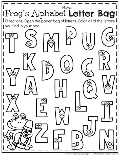 letter a kindergarten worksheets worksheet