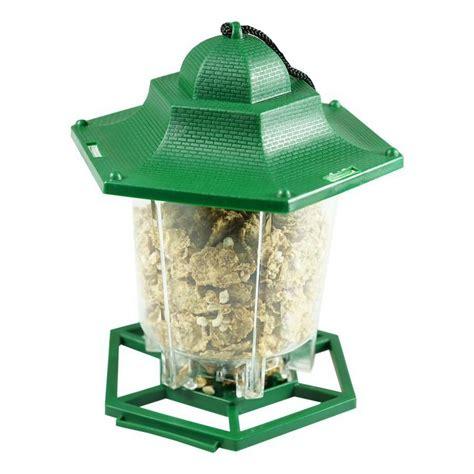 mangeoire pour oiseau maison plastique vert jardin nature