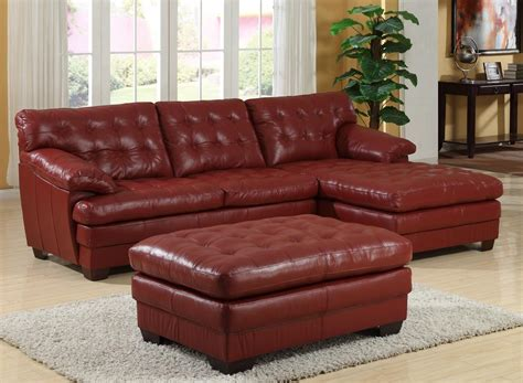 red sectional sofa with recliner homelegance 9817 all leather sectional sofa set red