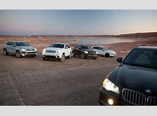 Car and Driver Compares BMW's E70 X5 With Its Main Rivals