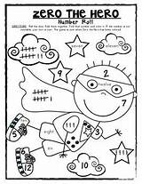 Zero Dice Roll Hero Number 100th Addition Fun Kindergarten Numbers Coloring Math Pages Games Preschool Counting Classroom Days Teacherspayteachers Printable sketch template