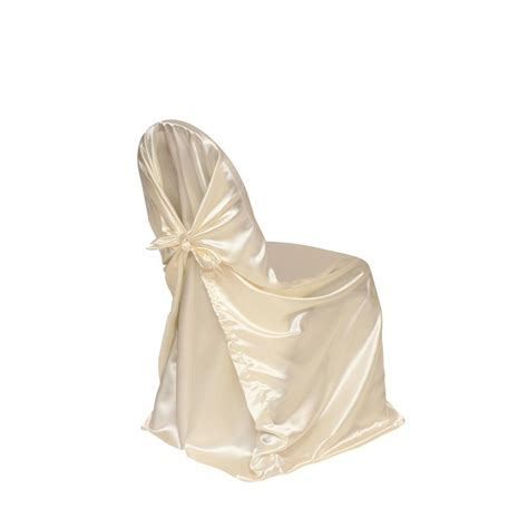 ivory satin universal chair cover wedding chair covers