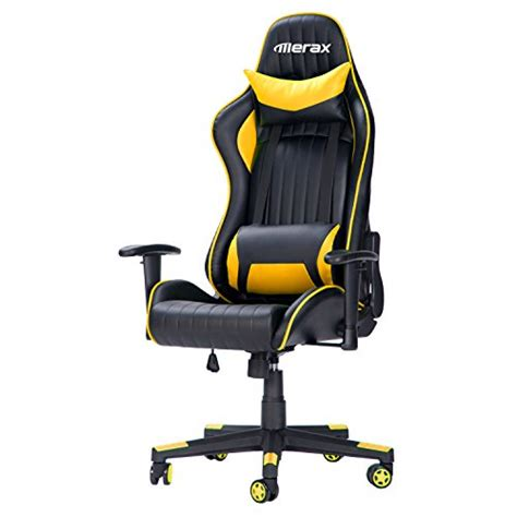 merax executive pu leather racing chair high back gaming