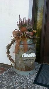 Advent Vor Der Haustür : herbst vor der haust r mit alter milchkanne garten pinterest ~ Whattoseeinmadrid.com Haus und Dekorationen