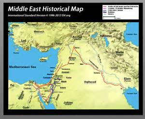 Bible Map of Middle East Countries