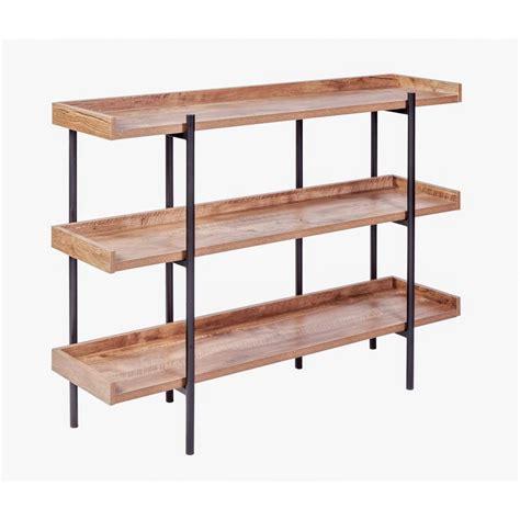 Oak Etagere by Onespace Modern Etagere Classic Oak 3 Tier Shelf Display