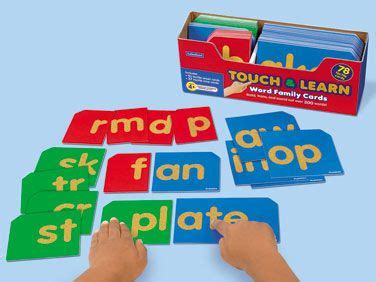 touch learn word family cards  lakeshore learning