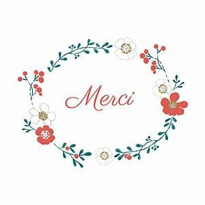 carte de remerciement couronne de fleurs atelier rosemood With chambre bébé design avec remerciement deces fleurs