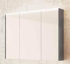 Spiegelschrank 100 Cm Led : sieper khalix spiegelschrank mit led beleuchtung anthrazit breite ~ Bigdaddyawards.com Haus und Dekorationen