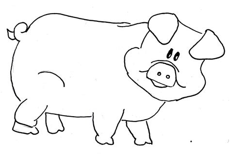 pig template pig outline clipart clipart suggest