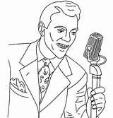 Coloring Singer sketch template