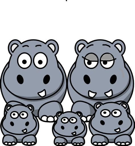 Hippo Clip Hippos Clipart Www Pixshark Images Galleries With