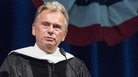 pat sajak delivers  graduation speech  founders