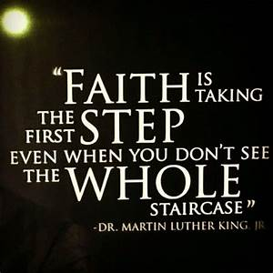 faith - Martin Luther King quote | Quotes | Pinterest