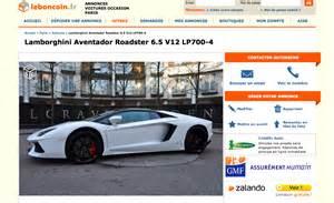 Boule Escalier Le Bon Coin by En Redressement Fiscal Il Vend Sa Lamborghini Sur Le Bon