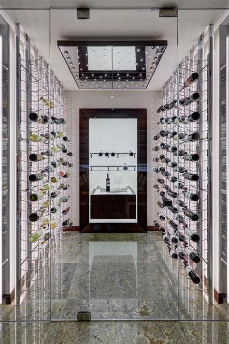 sophisticated mid century modern wine cellar designs
