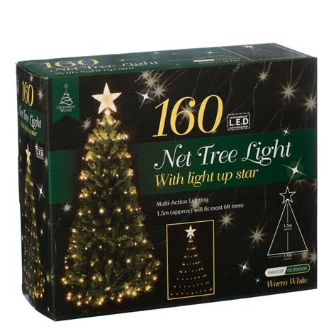net lights for trees b m 160 led tree net christmas light with star 2819191