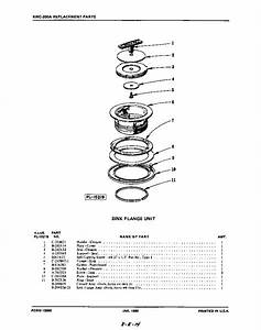Sink Flange Diagram  U0026 Parts List For Model Kwc200a