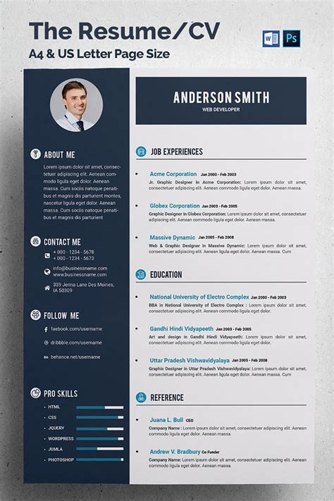 web developer cv resume template  profit logo