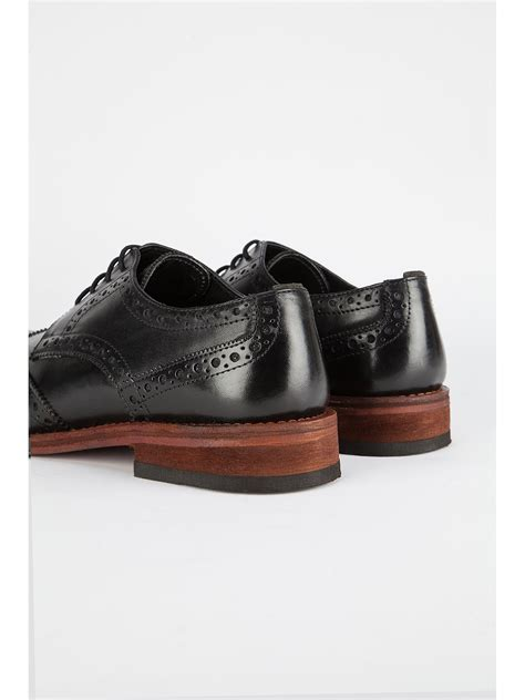 racing green black leather brogues suit direct