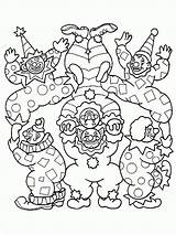 Coloring Pages Clown Circus Scary Printable Clowns Coloring2print sketch template