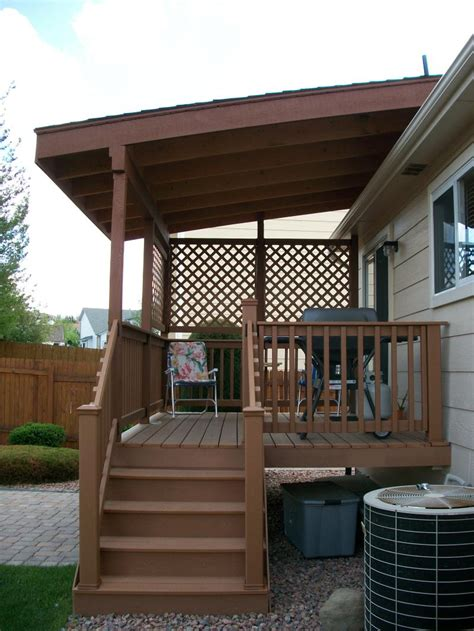 pin covered deck shed roof turn your area into a