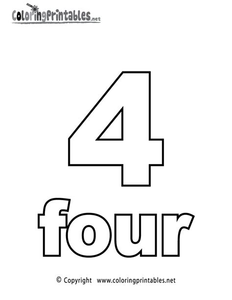 number  coloring page printable numbers activities